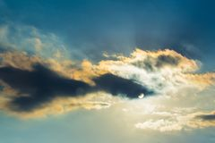 Dramatic skycap. With burning clouds Royalty Free Stock Photos