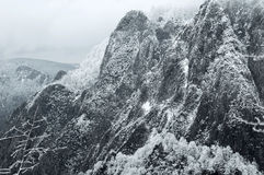 Dramatic snowy mountain Royalty Free Stock Photography