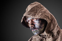 Dramatic soldier Royalty Free Stock Photography