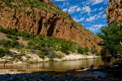 River gorge in South Africa Royalty Free Stock Photo