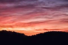 Dramatic South Dakota Sunset Stock Photography