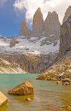 Dramatic Spires Above an Alpine Lake Stock Image