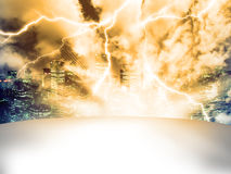 Dramatic Stage. Dramatic with light effects on the empty stage royalty free illustration