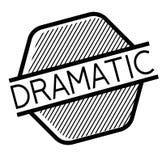 Dramatic stamp on white. Background. Sign, label sticker stock illustration