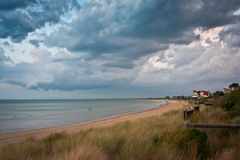 Dramatic stky over Mornington Peninsula Coastline Royalty Free Stock Photography