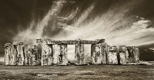 Dramatic stonehenge Stock Photography