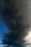 Dramatic storm cloud as background. Stock Photos