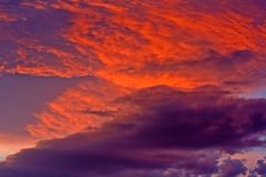 Dramatic storm clouds Stock Photography