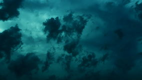 dramatic storm clouds dark cinematic this is a time lapse epic video of a stormy in blue color really nice colours and pleasure stock video footage
