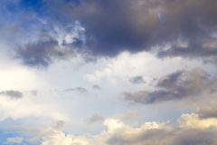 Dramatic storm clouds with eye in sky royalty free stock photos