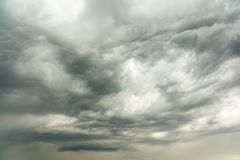 Dramatic storm clouds. Over the Texas Hill Country Royalty Free Stock Image