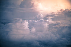 Dramatic storm clouds by overlooking Stock Photography