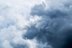 Dramatic storm cloudscape with strange cloud shapes Royalty Free Stock Photos