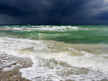 Dramatic storm on ocean Stock Image