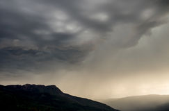 Dramatic storm. In Salmon Arm, BC Stock Photography