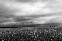 Dramatic storm sky in black and white Stock Photography