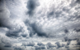Dramatic stormy clouds. Royalty Free Stock Photography