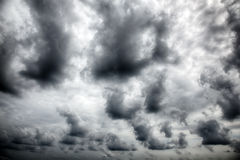 Dramatic stormy clouds. Royalty Free Stock Image