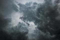 Dramatic stormy clouds for background royalty free stock photos