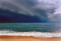 Dramatic stormy clouds. Stock Photos