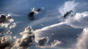 Dramatic stormy clouds, sky bakcground,. Image of a stock photo