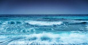 Dramatic stormy seascape Royalty Free Stock Image