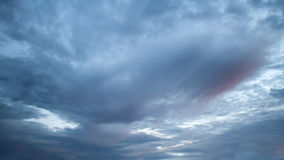 Dramatic stormy sky. Dark ominous storm clouds. Dramatic stormy sky royalty free stock photo