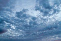 Dramatic stormy sky. Dark ominous storm clouds. Dramatic stormy sky stock image