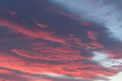 Storm clouds at sunset. Dramatic stormy sky before dawn royalty free stock photography