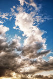 Dramatic stormy sky, natural scene, vertical composition Stock Photos