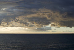 Dramatic stormy sky over sea Royalty Free Stock Photo
