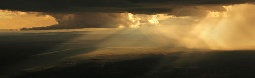 Dramatic Stormy Sunset Royalty Free Stock Images