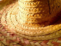 Dramatic straw hat Royalty Free Stock Photography
