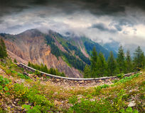 Dramatic summer landscape in the Italian Alps,  Dolomites mounta Stock Image