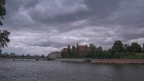 A Dramatic Summer Time Lapse View Of Cloudy Odra River stock footage