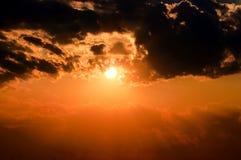 Dramatic sun Stock Photos