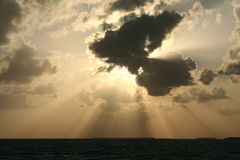 Dramatic Sun and Clouds Stock Photo
