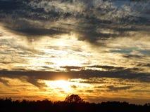 Dramatic Sundown Stock Images