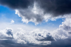 Dramatic sunny cloudy sky Stock Photos