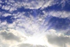 Dramatic sunrays Stock Photo