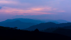 Dramatic sunrise at Cameron Highland Royalty Free Stock Images
