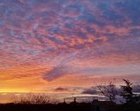 Dramatic sunrise 01. Colorful sky at dawn Stock Image