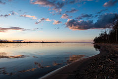 Dramatic sunrise over the calm river Royalty Free Stock Images