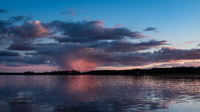 Dramatic sunrise over the calm river Royalty Free Stock Photography