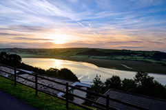 Dramatic sunrise over Laugharne – Wales, United Kingdom Royalty Free Stock Photo