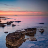 Dramatic sunrise over the sea Royalty Free Stock Photo