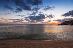 Dramatic sunrise over the seashore Royalty Free Stock Images