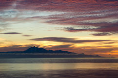 Dramatic sunrise in the sea for background. Royalty Free Stock Image