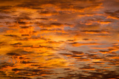 Dramatic sunrise sky Stock Photography