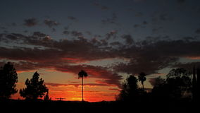 Dramatic sunrise in time lapse stock video footage